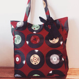 Bolso Vinilos Lona Tote Bag Emo Punk Pin Up 90s Grunge