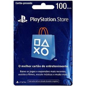 Cartão Psn Brasileira Br R$ 100 Ps4 - Plus 6 Meses - Rápido