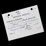 ¬¬ Z3 Licencia Médica Año 1945 Cala Cala Ficha Salitrera