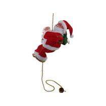 Santa Claus Sube Baja Cadena Musical Rostro Iluminado