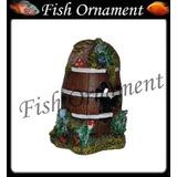 Enfeite Aquario Resina Barril Lester - Fish Ornament