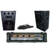 Moon Combo Dj Mixer 4 Ch +2 Bafles 15 500w + Micro Karaoke