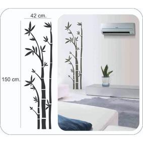 Adesivo Decorativo De Parede, Lindo Bambu Grande 150cm.x42cm