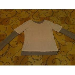 Camiseta Triton Tamanho P Sobreposta Branca / Cinza