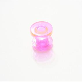 Alargador 6mm Acrílico Rosa Neon