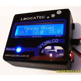 Voltimetro Digital Automotivo Azul Alta Precisao Remote