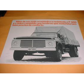 Folder Raro Ford Caminhao F-600 73 1973 74 1974 V8 Gasolina