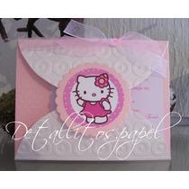 Invitaciones Hello Kitty, Bautizo, Cumpleaños, Presentación