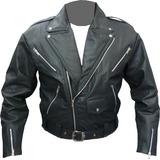 Nova Jaqueta De Couro Perfecto Rock Rockeiro Ramones