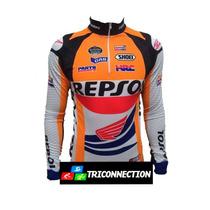 Camiseta Ciclismo Ert Manga Longa Honda Repsol- Mtb-speed