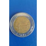 Moneda Italiana 500 Liras Italia. Año 1982