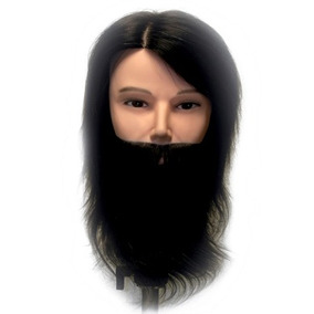Cabezote Maniqui Caballero Barba 100% Natural