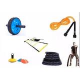 Kit Funcional 5 Itens Corda, Roda, Escada, Cone E Pula Corda