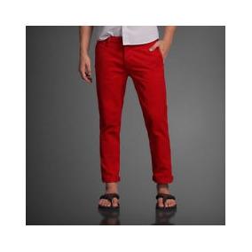 Calca Da Abercrombie Fitch Ou Hollister Jeans Brim Vermelha