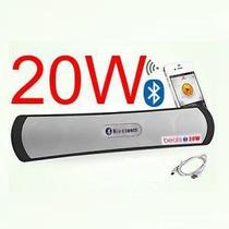 Caixa Som Portatil Bluetooth 20w Iphone Ipad Sd Usb Radio Fm