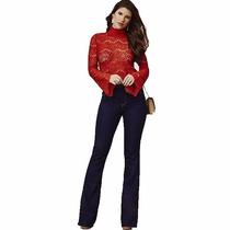 Calça Jeans Flare Feminina Hot Pant Cós Alto Colada Moda Top