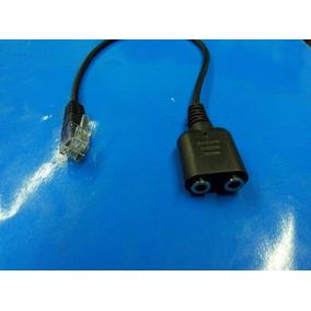 Rj9 Conversor Adaptador Pc Headset Para Telefone 3,5mm Audio