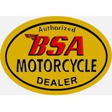 6098- Placa Decorativa Moto Motorcycle Bsa