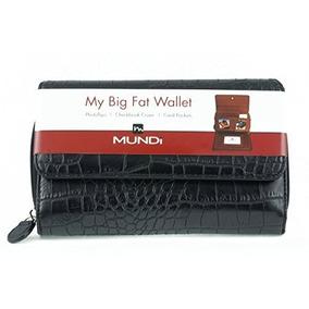 Billetera Big Fat Mundi Womens Croc Faux Charol Monede W322