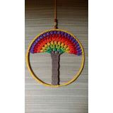 Mandala Arbol De La Vida. Tejido A Mano. Crochet