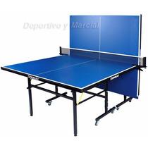 Mesa De Ping Pong Donnay Tt6000 + Red + Soportes Plegable 16