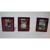 Lote 03 Cartuchos De Atari: Gravitar, Jr. Pac Man, Sprint