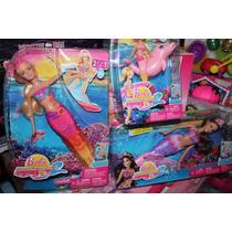 Barbie Paquete De Tres Muñecas Sirena Princesa Merlia