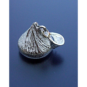 Dije Forma De Chocolate Kisses Plata Ley 925 Auténtica