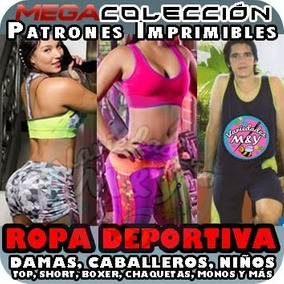 Moldes Patrones Top Short Conjuntos Ropa Deportiva + Cursos