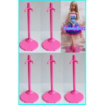 Lote Com 5 Suportes Para Boneca Barbie Monster High Susi Ken