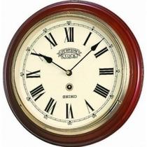 Reloj Seiko Qxa143bl Pared Madera Agente Oficial