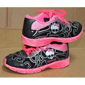Tenis Infantil Monster High Grendene Kids Preto Rosa Usado