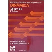 Volume Ii: Mecanica Vetorial Para Engenheiros Dinamica - Fer