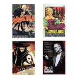 Placas Decorativas Filmes Antigos 20x30cm