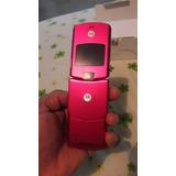 Vendo Motorola V3 Color Rosado Movistar