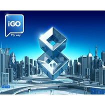 10 Programas Navegador Gps Igo8+cartão Micro 8gb+adaptador