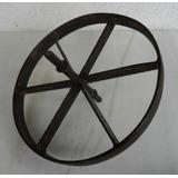 Roda De Ferro Antiga Perfeita & Completa P/ Carrinho De Mão