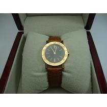 Relógio Bulgari De Ouro 18k Pulseira Couro Bvlgari