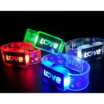 Pulsera Love Con Led X Unidad Varios Ritmos Local Once