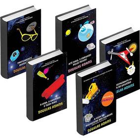 Kit Livros Coleção O Guia Do Mochileiro Das Galáxias 5 Vol.