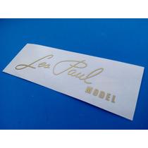 Sticker Vinil Les Paul Model Guitarra Electrica Headstock