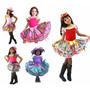 Vestido Festa Junina Caipira Infantil Criança Com Shortinho