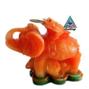 Rana De 3 Patas Y Elefante - Amuleto Para Atraer Clientes