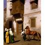 Egito Cairo Cavalo Árabes Pintor Gérôme Tela Repro