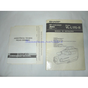 Manual Instruçoes Filmadora Vl-l170b Sharp Usado No Estad