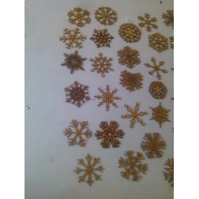 Esferas Copos De Nieve Corte Laser Navidad Original 20cm