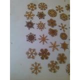Esferas Copos De Nieve Corte Laser Navidad Original 10cm