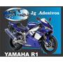 Adesivo P/ Moto Yamaha R1 2001 Material Importado