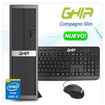 Ghia Compagno Slim Core I3 4160 3.6 Ghz/4gb/1tb/dvd+rw/lm/sf