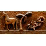 Escultura Talha - Arte Naif - Talha Esculpida 0,5 X 1 M !